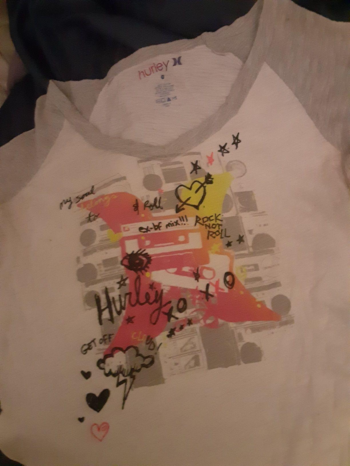 Hurley long sleeved tee shirt