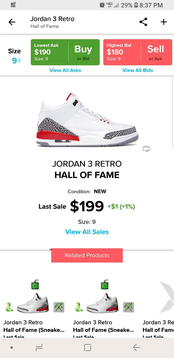 d0b48e4f7aefa4 New Nike Jordan 3 Katrina SZ 9 for Sale in Charlotte