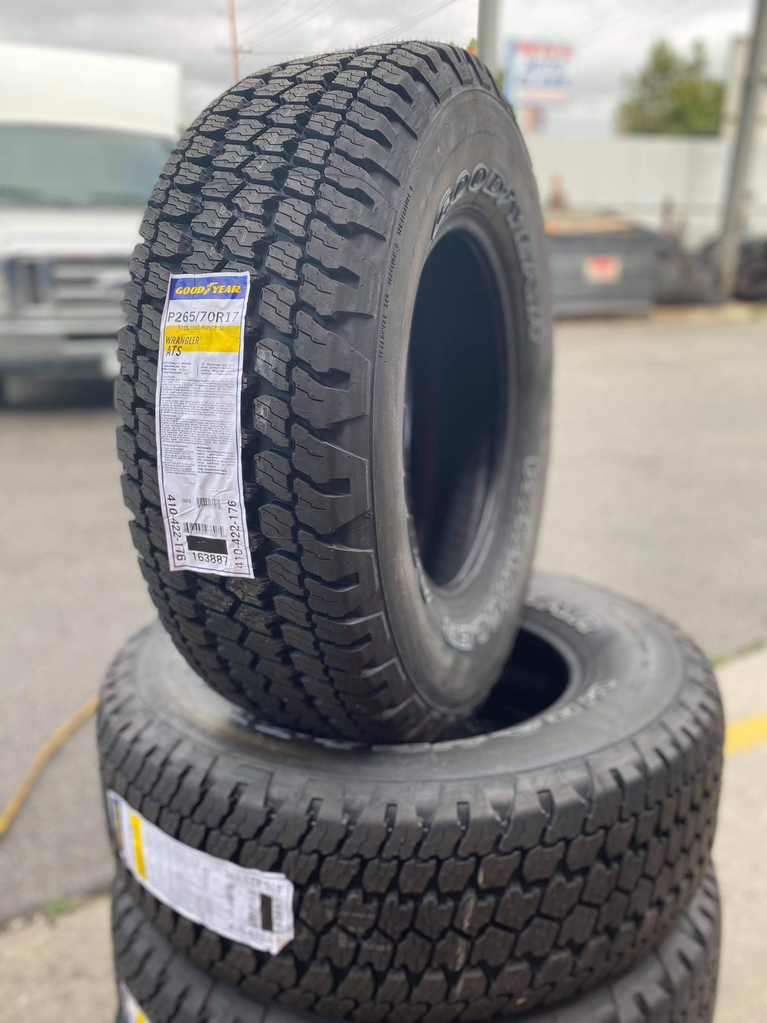 265/70/17 GOODYEAR Wranglers New Tires
