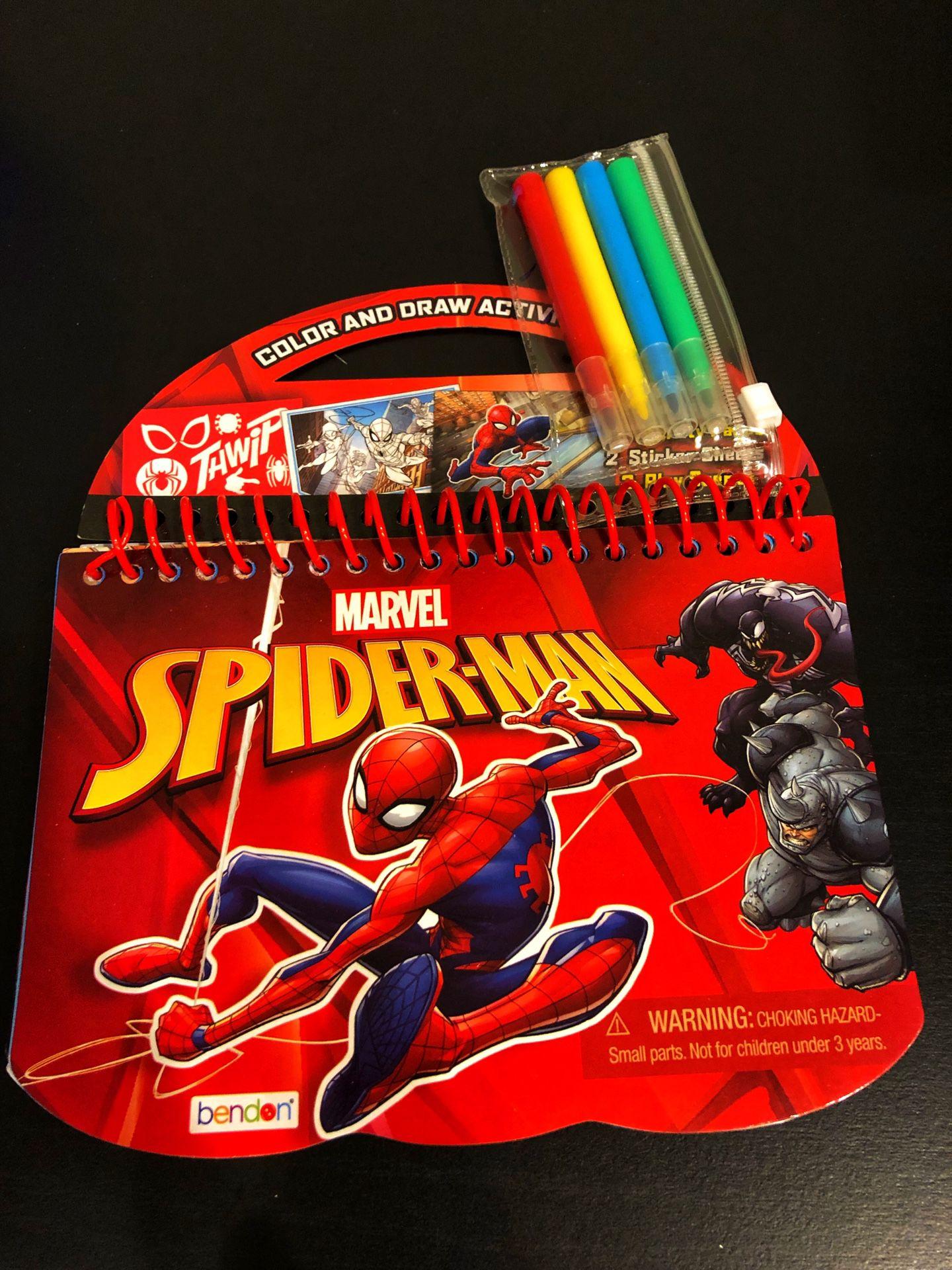 Spider-Man Color & Draw Activity Pad
