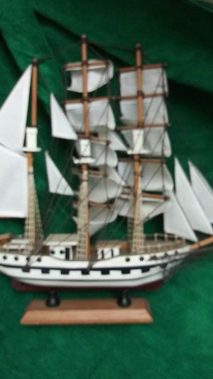 Clipper ship wooden boat. Scale model for Sale in San Leandro, CA