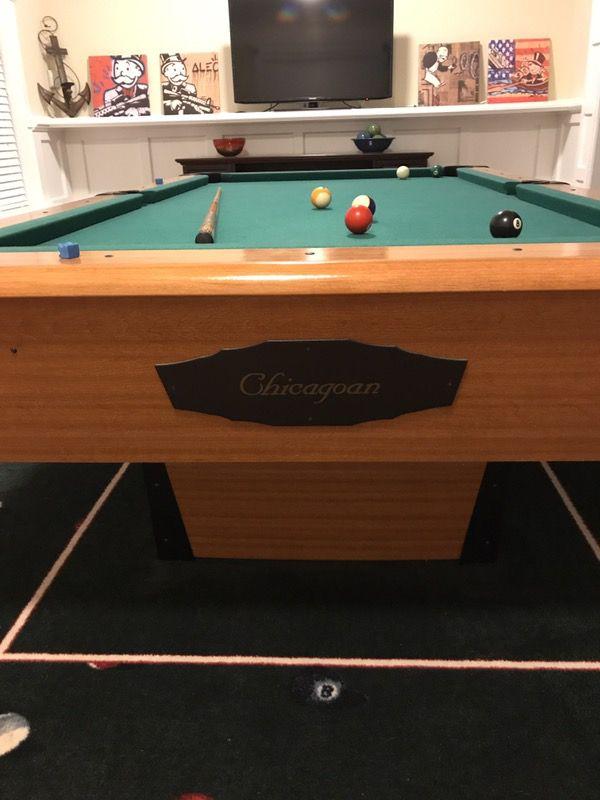 Mizerak Chicagoan Ft Pool Table OBO For Sale In Jacksonville - Chicagoan pool table