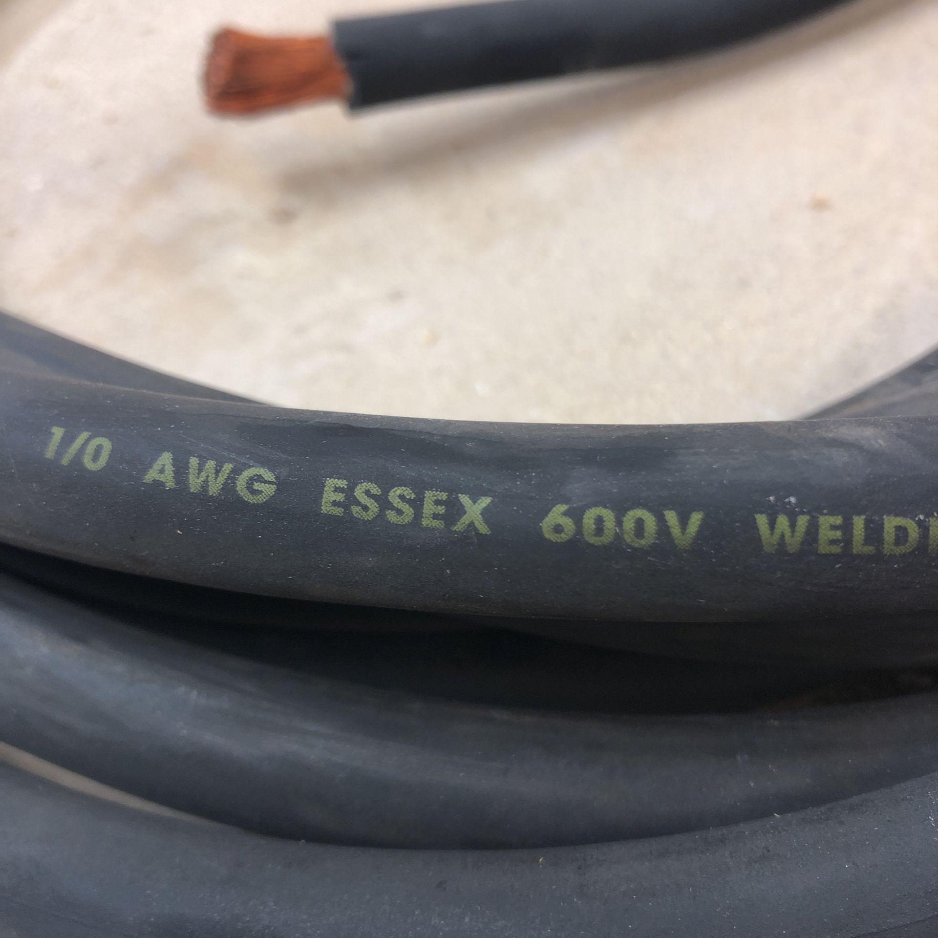 24 foot of copper welding cable