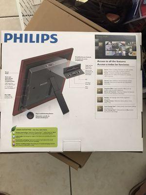 Philips Home Essentials Digital Photoframe 8 Led Panel Mahogony