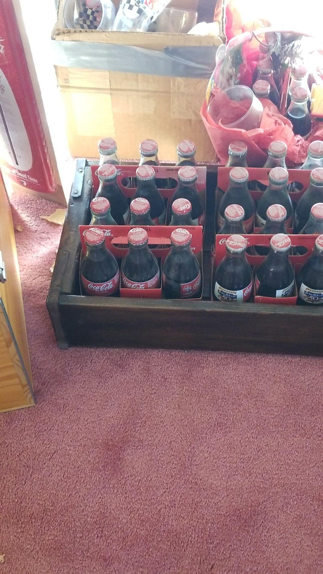 Old coke bottles
