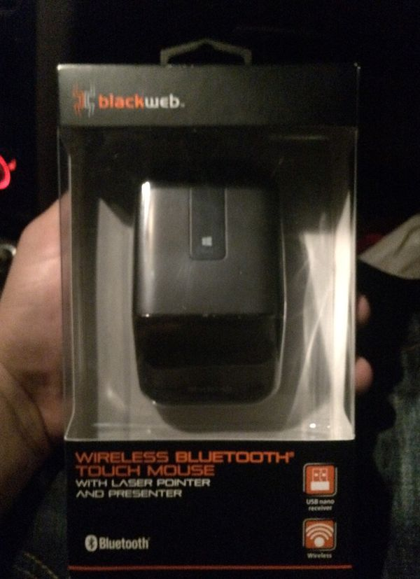 BLACKWEB Bluetooth wireless Touch mouse/laser pointer and presenter for  Sale in Bakersfield, CA - OfferUp