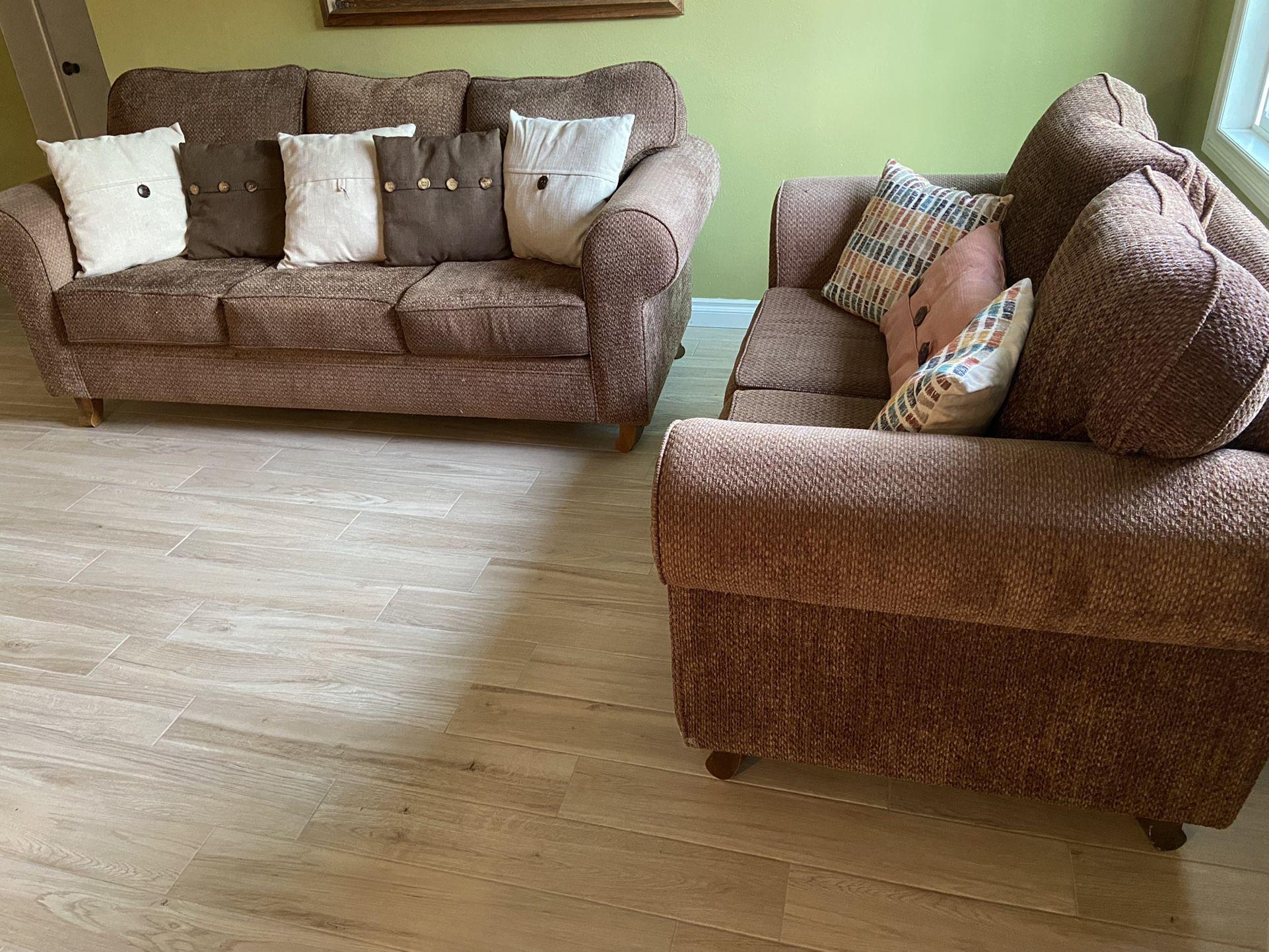 Sofa and Love Seat Combo