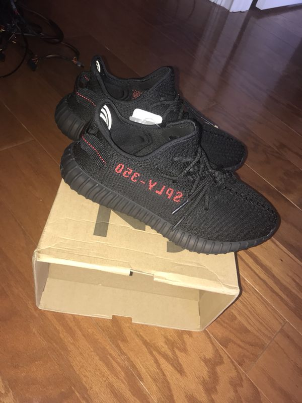 adidas yeezy bred 350 v2 size 8 5 with reicpt kept in amazing