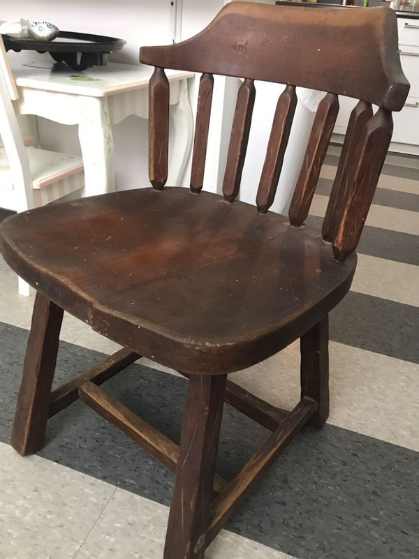 Heavy Solid Wood Antique Childrens Chair for Sale in Baytown, TX - OfferUp - Heavy Solid Wood Antique Childrens Chair For Sale In Baytown, TX
