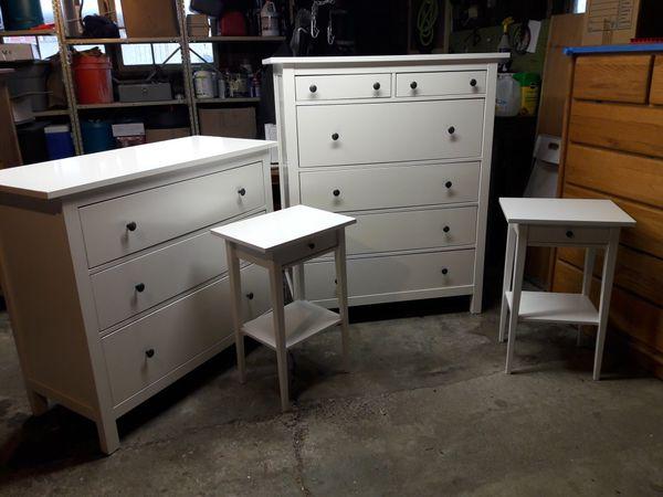 White Glossy Ikea Hemnes Bedroom Set For Sale In Shoreline WA OfferUp Interesting Ikea Hemnes Bedroom