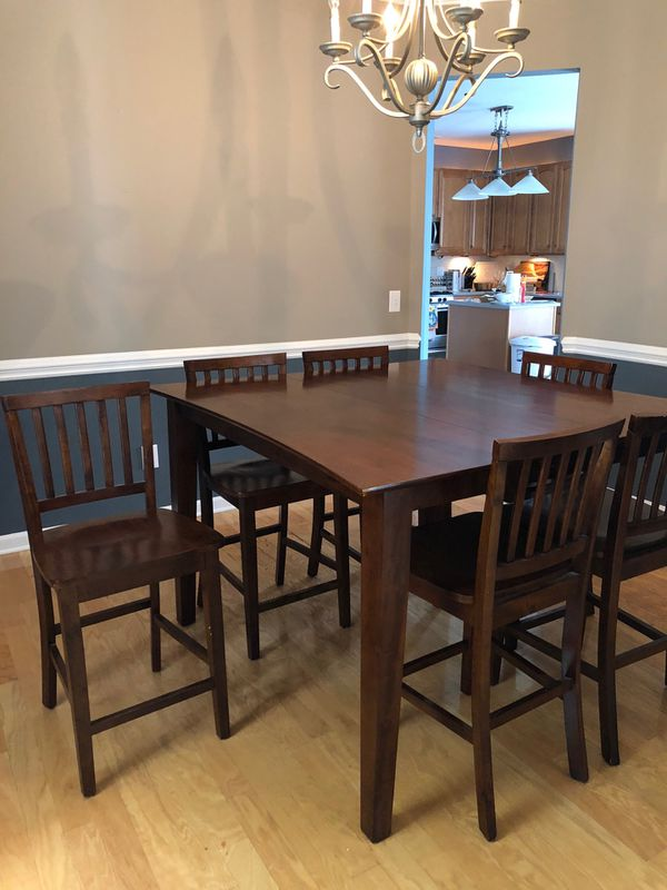Mahogany Hi Top Dining Table With 6 Chairs For Sale In Charlotte Nc Offerup