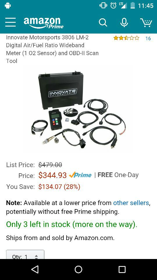 Innovate Motorsports LM-2 wideband sensor kit with tailpipe sniffer! for  Sale in Saint Augustine, FL - OfferUp