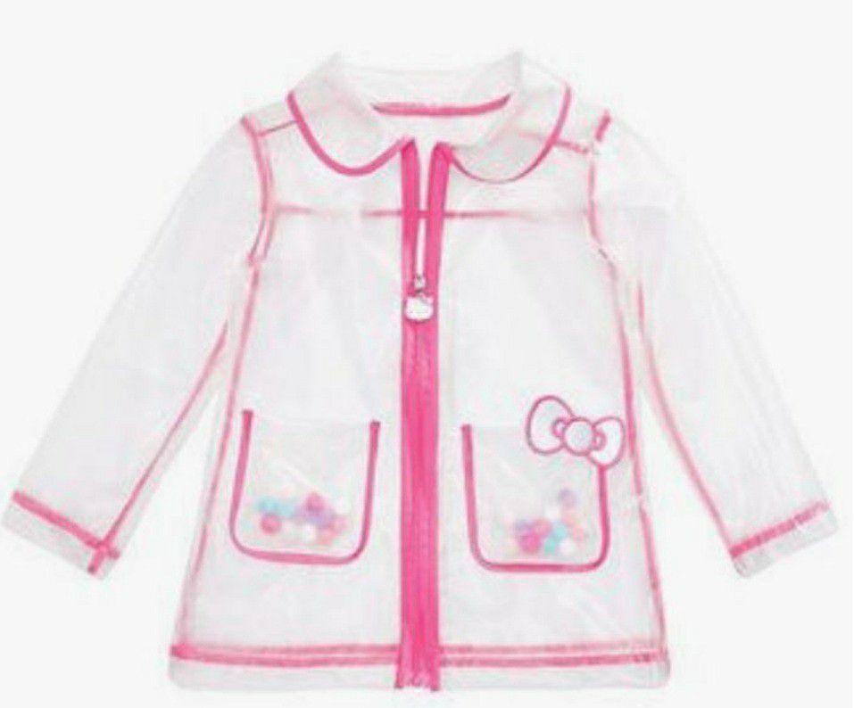 New Hello Kitty little Girl Rain Jacket