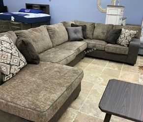 🌲same DAY delivery & free delivery 💠 Abalone Chocolate LAF Sectional 💠 Thumbnail