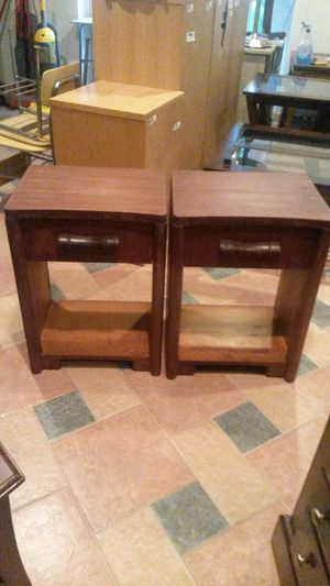 Antique solid cherry wood end tables or night stands for Sale in Silver Spring, MD