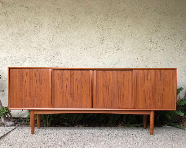 Danish Modern Credenza Sideboard : Mid century danish modern teak credenza sideboard media cabinet