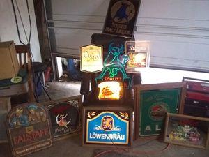Man cave beer signs n lights for Sale in Portland, OR
