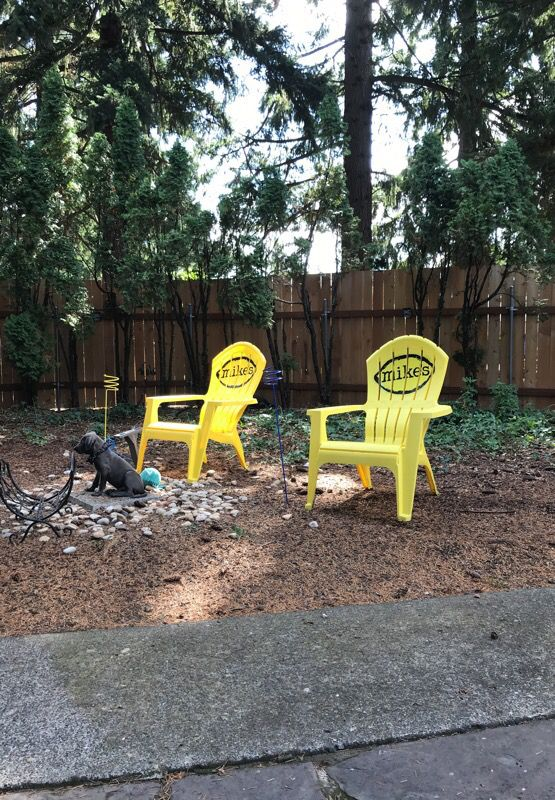 2 Adirondack Chairs Branded Mikes Hard Lemonade Portland