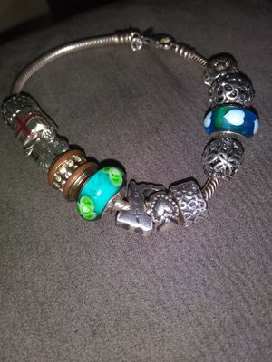 Pandora bracelet and 12 charms. for Sale in Hollywood, FL