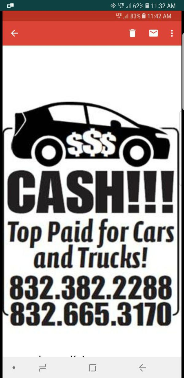 We buy cars and trucks top pay cash on hands (Cars & Trucks) in ...