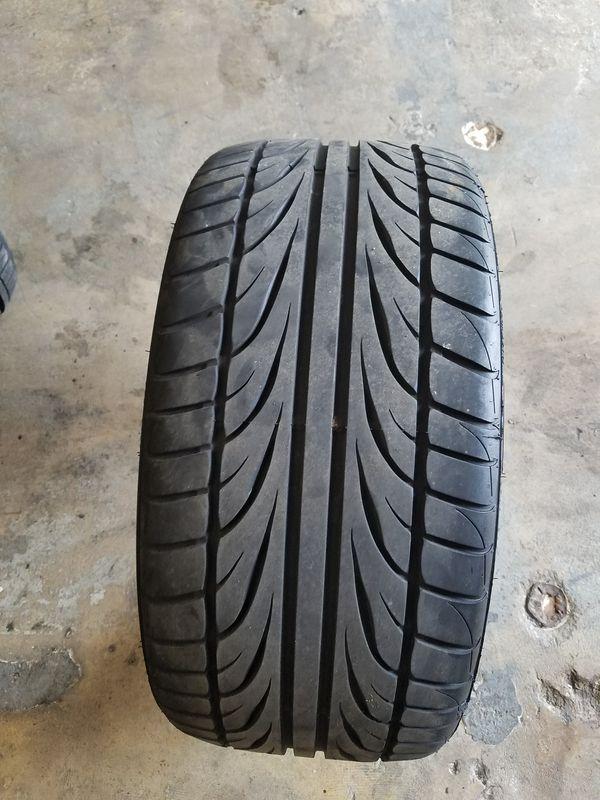 255 30 20 Ohtsu Fp8000 Uhp Summer Tires Blackwall Small Superficial Damage On Sidewall