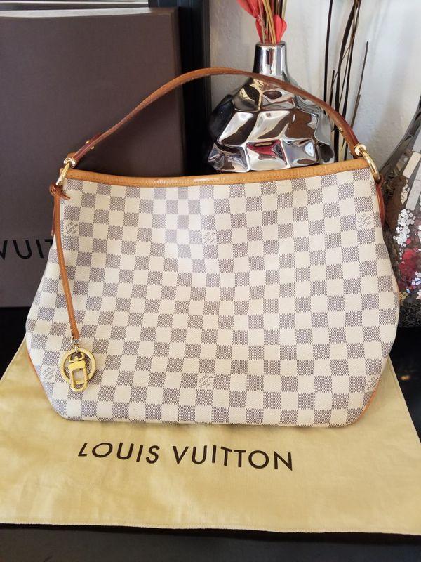 1ad2818efee2 Louis Vuitton Delightful PM Damier Azur purse  RARE  100% Authentic lv  leather bag!