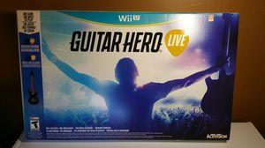 Guitar Hero live for Nintendo Wii U for Sale in Perris, CA