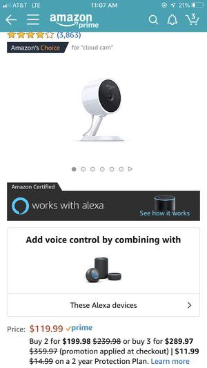 Amazon Security Camera for Sale in Seattle, WA