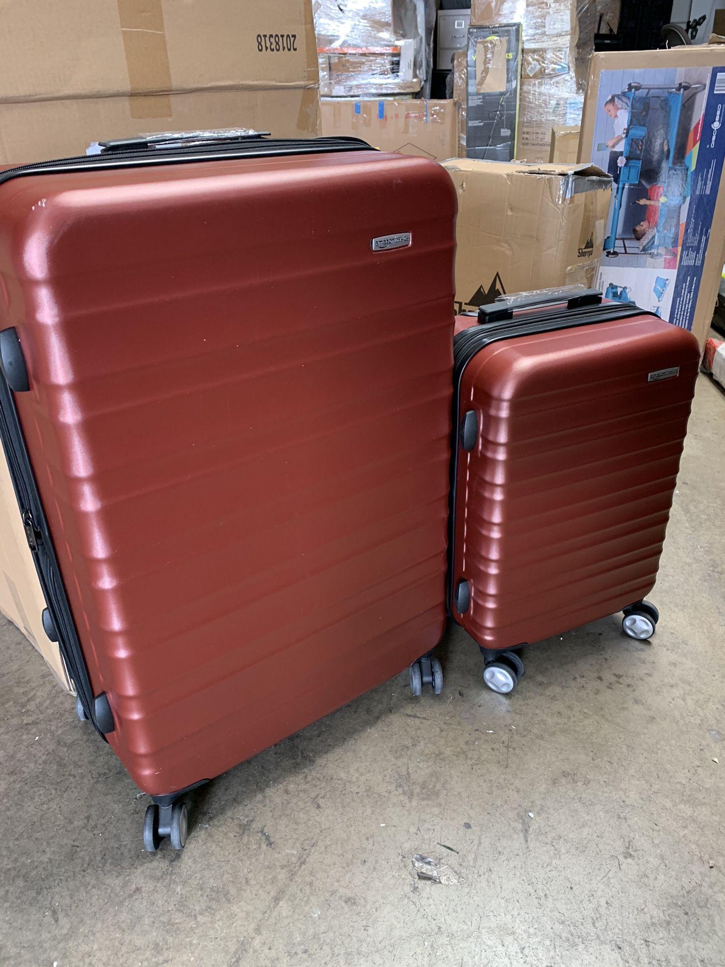 Amazon basics premium hardside 2 piece luggage