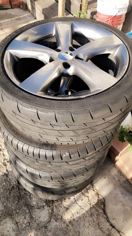 Dodge tires 5 slugs