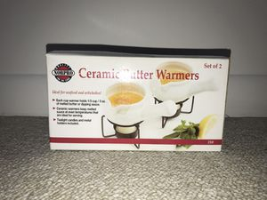 ceramic butter and sauce warmers with candles for Sale in Miami, FL