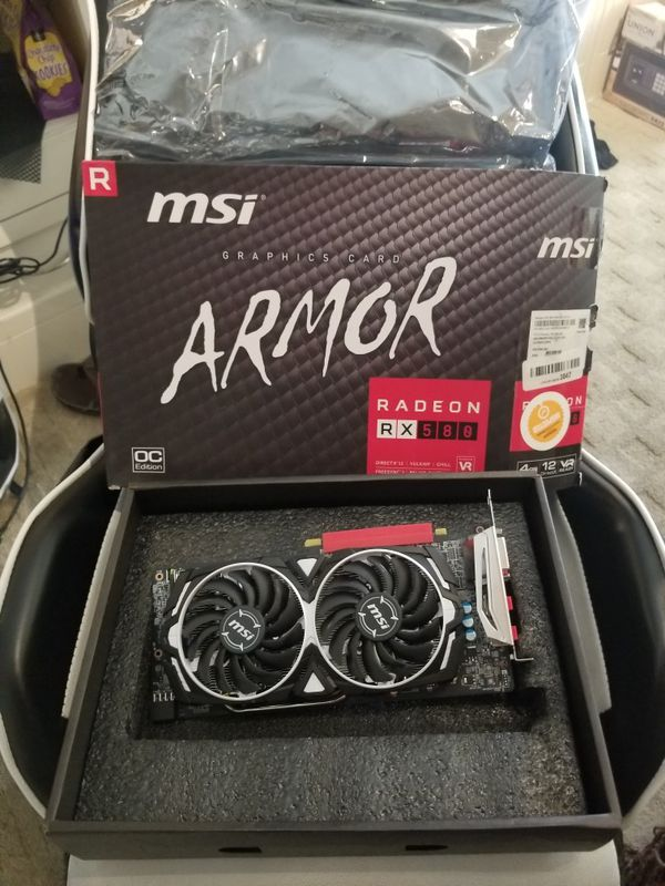 MSI AMD RX580 4GB ARMOR Graphics Card for Sale in Las Vegas, NV - OfferUp