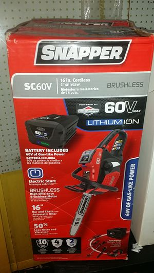 """Snapper 16"""" Cordless Chainsaw 60V for Sale in BALTIMORE, MD"""