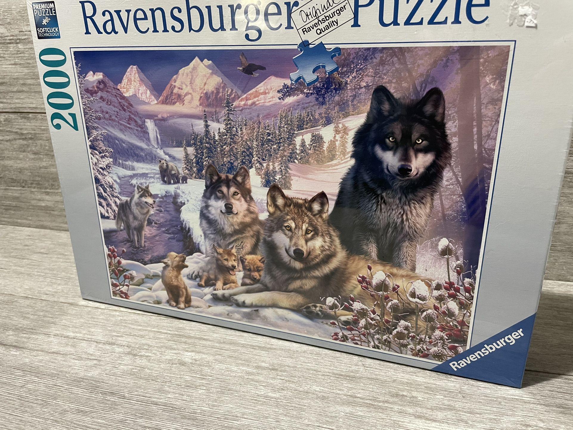 "Ravensburger 16012 Wolves 2000 Piece Puzzle- Softclick Technology 29.5""x30.5"""