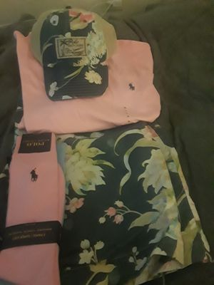 Polo outfit and matching hat with socks for Sale in Baltimore, MD