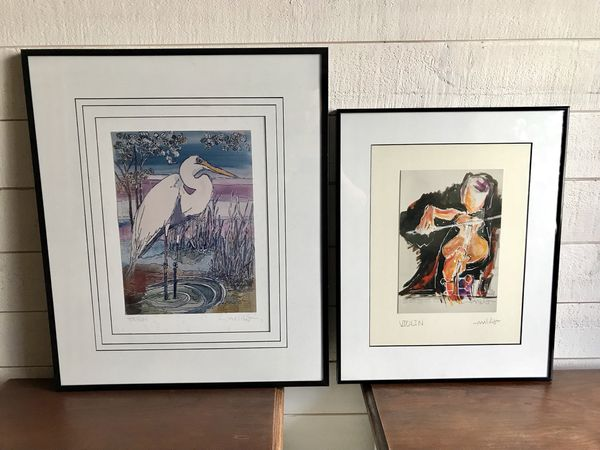 Signed wall art in metal frames for Sale in WA, US - OfferUp