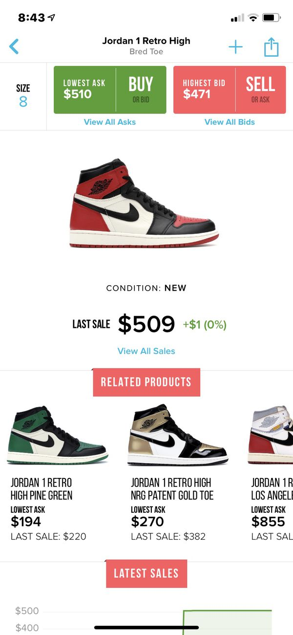 416a80c4096 New and Used Jordan 1 for Sale in Irving, TX - OfferUp