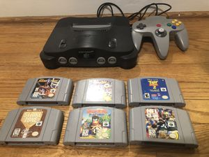 Nintendo 64 w/ 6 games and 4 controllers for Sale in Silver Spring, MD