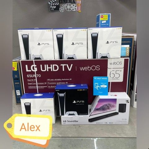 "LG 65"" Real 4K TVs With Soundbar Or PS5 🌷🌷No credit Check ✔️✔️We do Financing"