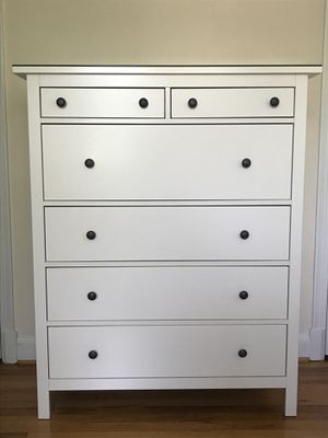 IKEA Hemnes White 6-Drawer Chest for Sale in Alexandria, VA