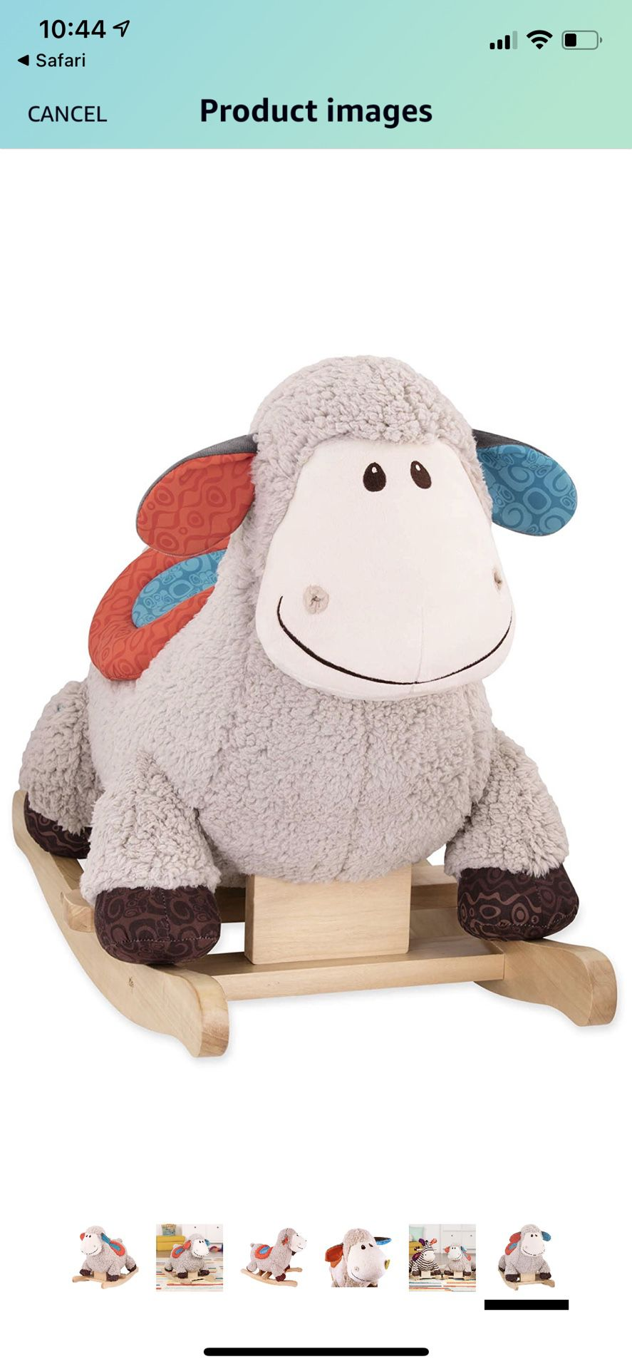 Loopsy Wooden Rocking Sheep
