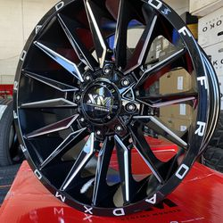20x10 Offroad Wheels 6lug Chevy Ford With Tirez Thumbnail