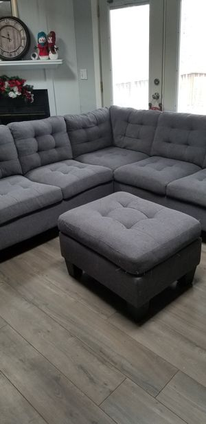Sectional sofa and ottoman for Sale in DeWitt, VA