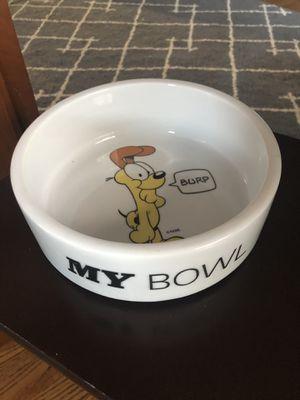 Garfield Odie dog bowl for Sale in Fairfax Station, VA