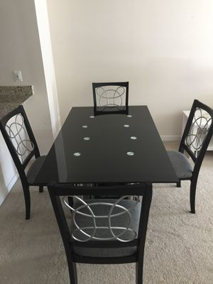 Dining glass table with 4 chairs for Sale in Fairfax, VA