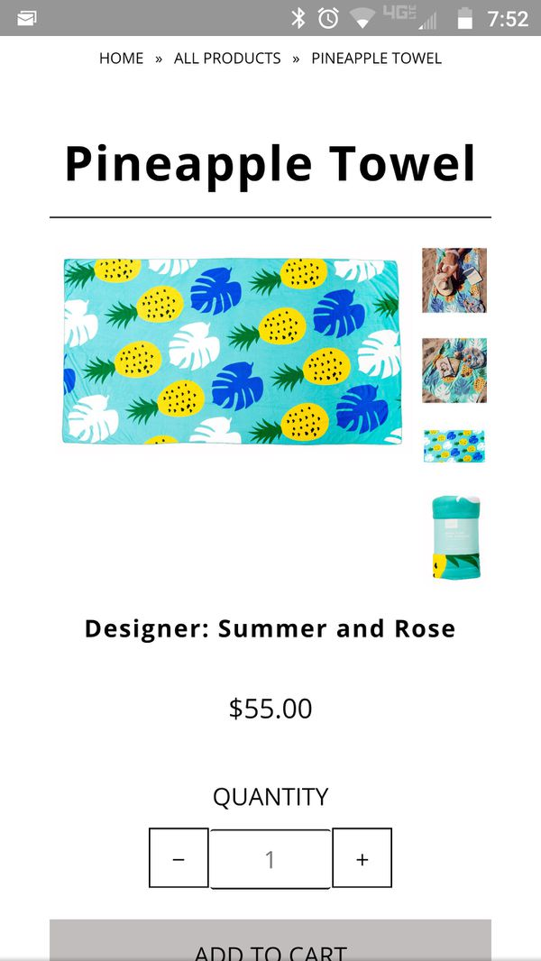 Summer And Rose Beach Towel Home Garden In Junction City Or