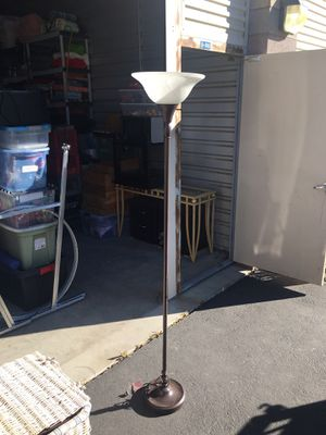 Photo Lamp, trash can, gas can , end table and two step stools