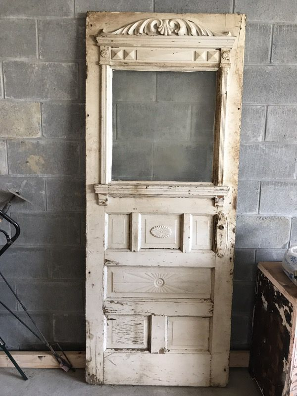 Detailed Antique Door With Glass For Sale In Omaha Ne