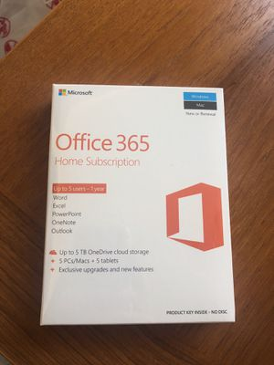 Microsoft Office 365 Home Edition (up to 5 users) for Sale in SeaTac, WA