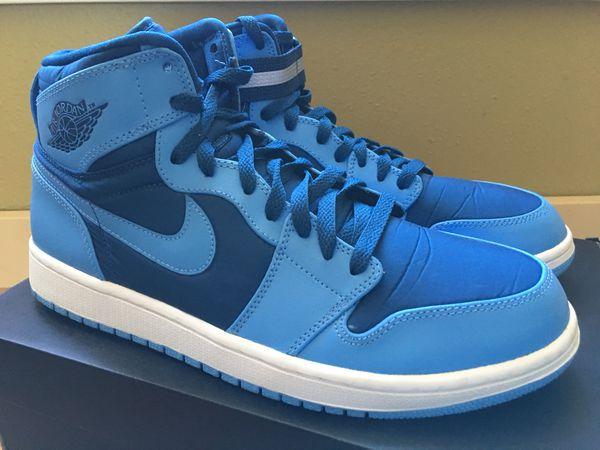 sports shoes c38e7 e1951 Nike Air Jordan 1 I high strap French blue university blue 10.5